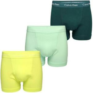 Calvin Klein 3er Pack Trunk Cotton Stretch Boxershorts Green Yellow Turquoise