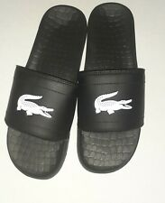 Lacoste Men's Croco Slide Sandal Size 11 - Black/White