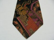 BUGLE BOY - 100% RAYON - ABSRACT - VINTAGE - MADE IS USA NECK TIE!