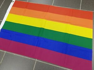 LGBT Gay Pride Rainbow Flag NHS Love Celebration 3FT X 2FT Quality Fabric Banner