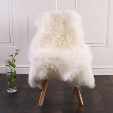 Öko Lammfell Schaffell Teppich Sofa Matte echtes Fell weiß 100-110cm TP3509ws-XL