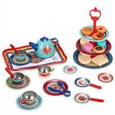 Soka Vintage Design Metal Tea & Cakes Set Toy for Kids - 40 Pcs Classic style