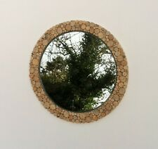 "Mirror Round Driftwood 50cm/20"" Large Bathroom Shabby Chic Natural Decor"