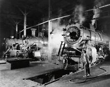 Americana O. Winston Link Steam Train Photo (1955) ORIGINAL w/ hand stamp.
