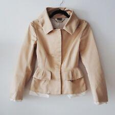 Alexander McQueen Champagne Silk and Cotton Jacket