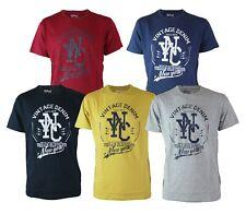 Maglia T-Shirt Uomo RIFLESSI 2918 VAR13 con Stampa Manica Corta Navy Blu Senape