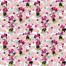 Disney Minnie Mouse **Doodle Hearts & Flowers** 100% Cotton Fabric