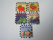 5-Fruit Faces Motivational  Stickers New  Party Favors