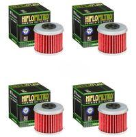Honda CRF250X HiFlo Oil Filter HF116 CRF 250X Genuine HifloFiltro - Pack of 4