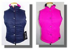 New Women's Sun Mountain Navy/Pink Reversible Snap Front Quilted Alpine Vest S