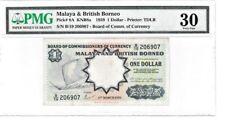 MALAYA & BRITISH BORNEO 1959 $1 DOLLAR PMG30 VERY FINE S/N B/19 BANKNOTE
