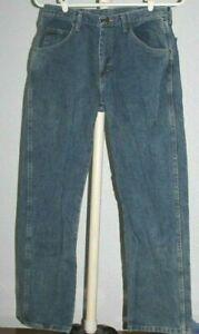 Men's    Wrangler   Blue  Denim   Jeans    34 x 30      #12