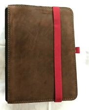 Roterfaden Suede Leather A5 Notebook Cover, Dark Brown/ Grey
