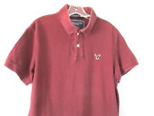 American Eagle Outfitters Men's Size M Short Sleeve Burgundy Polo Shirt