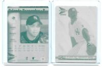LOT SET OF 2 ORLANDO HERNANDEZ 2000 PACIFIC PRISM PRINTING PLATE NY YANKEES 1/1