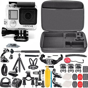 GoPro HERO 4 BLACK Edition Camera Camcorder lots of Hero 4 Accessory Kit