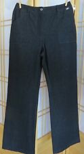 SALE St. John by Marie Gray Black Polyester Blend Zip Pants Sz 6 (A) Relaxed Leg