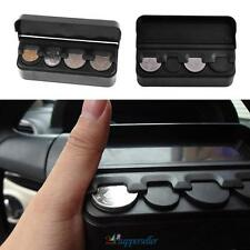 Black Car Auto Interior Plastic Coin Case Storage Box Holder Container Organizer