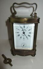 ANTIQUE L' EPEE SAINTE SUZZANE FRENCH 11 JEWELS CARRIAGE CLOCK WITH ALARM 8-DAY