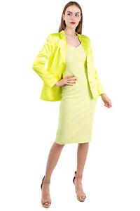 SILVIAN HEACH Satin Oversize Blazer Jacket Size XS Single-Breasted Notch Lapel