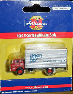ATHEARN 10088 N FORD C-SERIES WITH VAN BODY WESTERN PACIFIC WP