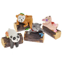 Mini Cartoon Animal Resin Statue Figure DIY Miniature Garden Ornament Decor 1 pc