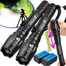 350000LM LED High Power Rechargeable Torch Flashlight Light Lamps&Charger Set