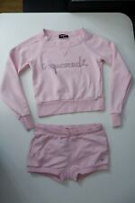 Dsquared2 Pink Outfit Set Age 12 Years Shorts & Jumper Stones Girls