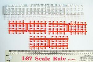HO 1/87 Herpa 50159 FORTY ORANGE WARNING LIGHTS use with River Point Station
