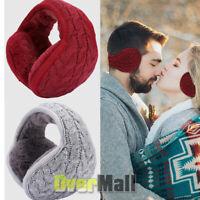 Men Women Ear Muffs Winter Ear Warmers Fleece Knitted Wrap Around Earmuffs 2020