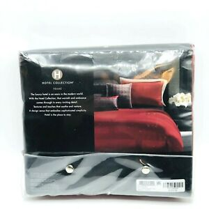 Hotel Collection Frame KING Bedskirt Solid Deep Red  16 in Drop
