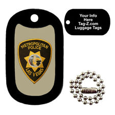Military Dog Tag - Las Vegas Police Patch - LUGGAGE TAG - Tag-Z Dog Tags