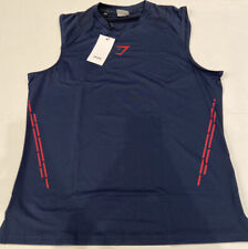 GymShark Men's Element Hiit Tank Eclipse Blue, Size XL - NWT
