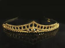 Beautiful Gold Plated Women Bridal Crystal Wedding Tiaras and Crown Headband