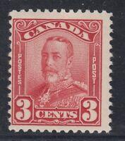 "Canada MINT OG Scott #151  3 cent dark carmine ""Scroll""   F"