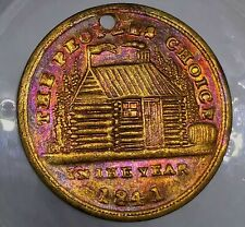 (1841) W. H. HARRISON CAMPAIGN MEDAL TOKEN PEOPLES CHOICE