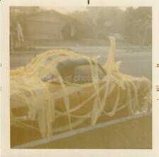 Toilet Paper Car FOUND PHOTO Color FREE SHIPPING Original Snapshot VINTAGE 88 26