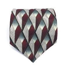 J.T Beckett Men's 100% Silk NeckTie Geometric