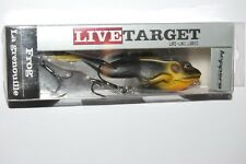 "koppers live target surface walking frog 4 5/8"" 7/8oz black tan bass topwater"