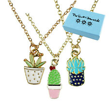 TFB - CLASSY CACTI NECKLACE Funky Plant Flower Wild Gift Novelty Sweet House Fun