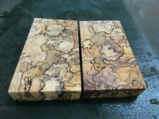 MM-SPALTED  MAPLE  DELUXE  KNIFE BLOCK/SCALES/ CALLS/ PEN BLANKS--MM--49