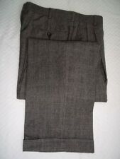 "Brooks Brothers Gray Plaid Pleated Front Flannel Wool Dress Pants W 36"" x 31"" L"