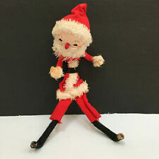 Vintage Santa Claus Christmas Holidays Cotton Face Felt Outfit with Flaw