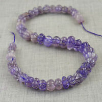 490.00 Cts /17 Inches Natural Drilled Purple Amethyst Flower Carved Beads Strand