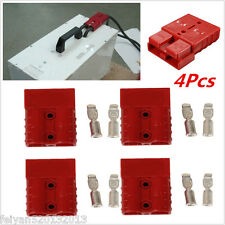 4x Red Battery Quick Connector Plug Connect Disconnect Winch Trailer 50A 8AWG