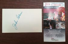 John Glenn Signed Autographed 3x5 Card JSA Certified NASA Orbit Earth Senator
