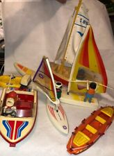 Playmobil 7 Boat Lot Sailboat Sail Pm Glider Trekking Star Raft Explorer&Figures