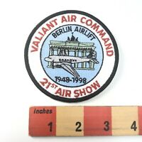 Vtg 1948-1998 VALIANT AIR COMMAND 21st AIR SHOW BERLIN AIRLIFT Plane Patch 91C3
