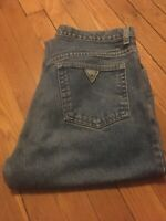 Guess Men's Blue Jeans 32 x 30 (actual inseam 30) Vintage Early 90s VG Condition