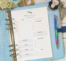A5 Day on 1 page Planner Insert Refill Finance Daily Weekly Plan Monthly DO1P